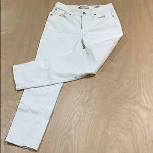 Levis Womens Mid Rise Skinny Ivory Jeans Size 10